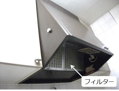 レンジフードタイプの換気扇フィルター