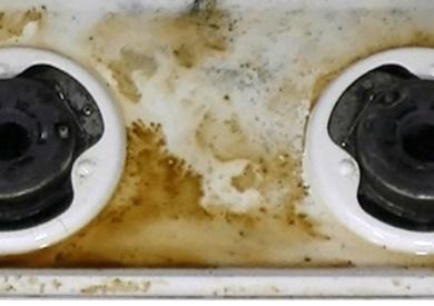 コンロの汚れが分解中