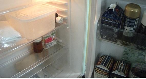 菌が潜んでいるかもしれない冷蔵庫内の写真