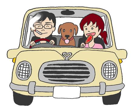 車内のニオイの原因イラスト