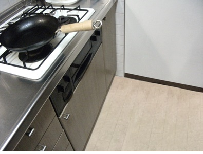 揚げ物や炒め物をよくする台所
