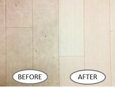 床(フローリング)の掃除前と掃除後